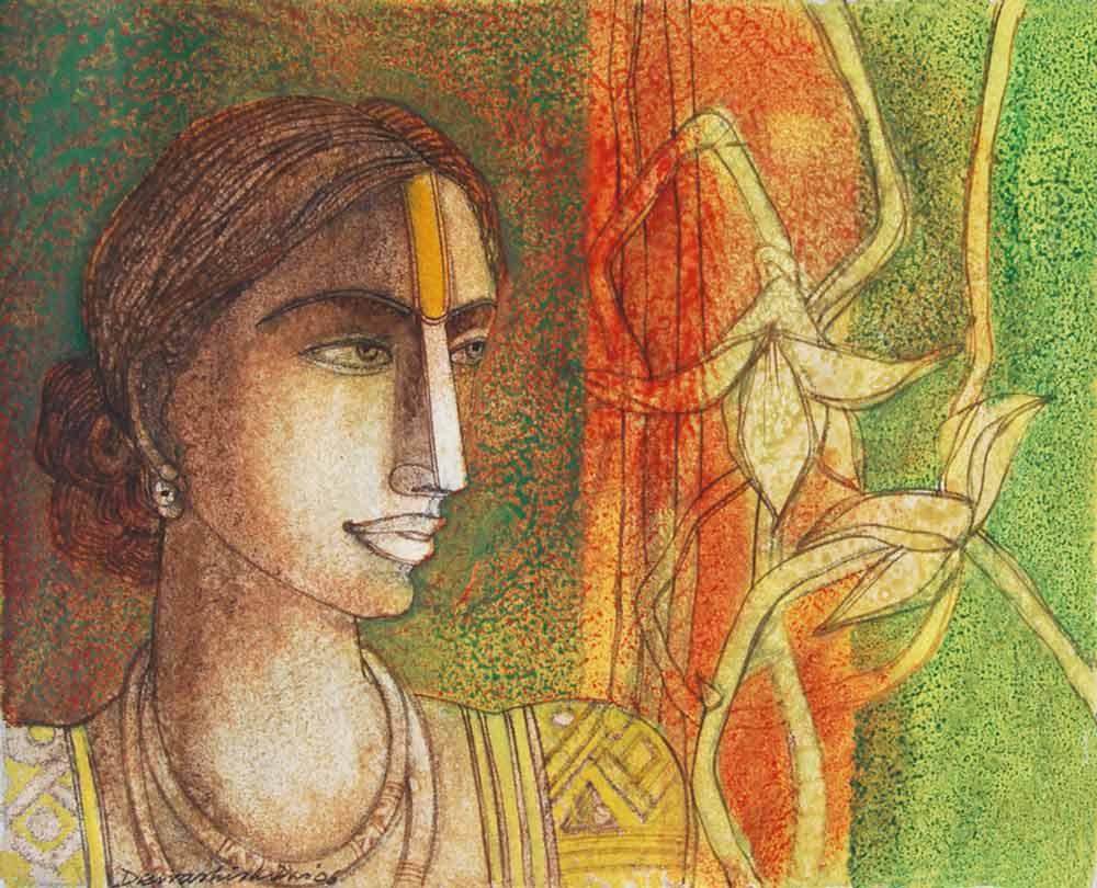 Dewashish Das Mixed Media on Canvas  20×16 inches  2006