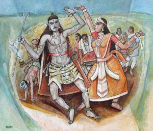 Bijan Choudhury | Bohurupee | Oil & Acrylic on Canvas | 42x36 inches | 2006