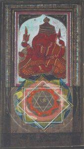 Dipak Banerjee  |  Ganesha  | Mixed Media on Canvas  |  8x10 inches  |  2005