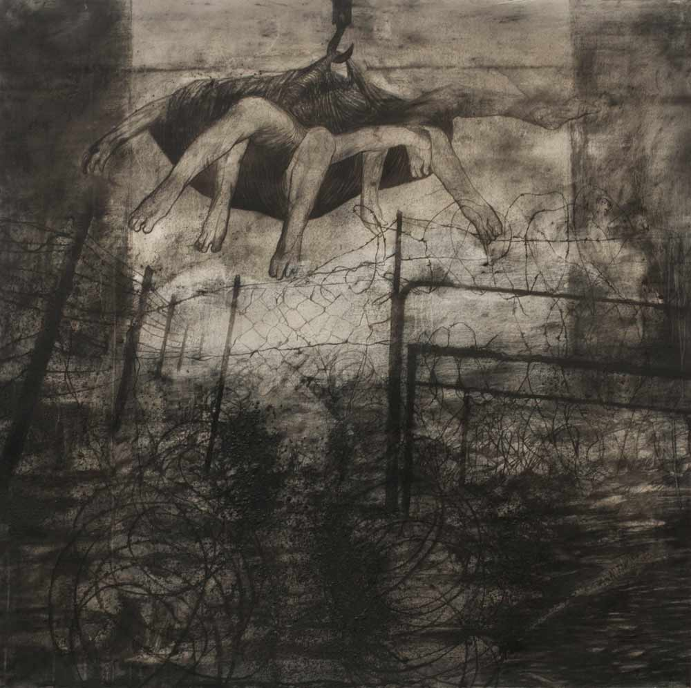the-cradle-charcoal-on-canvas-48-x-48-inches-2014