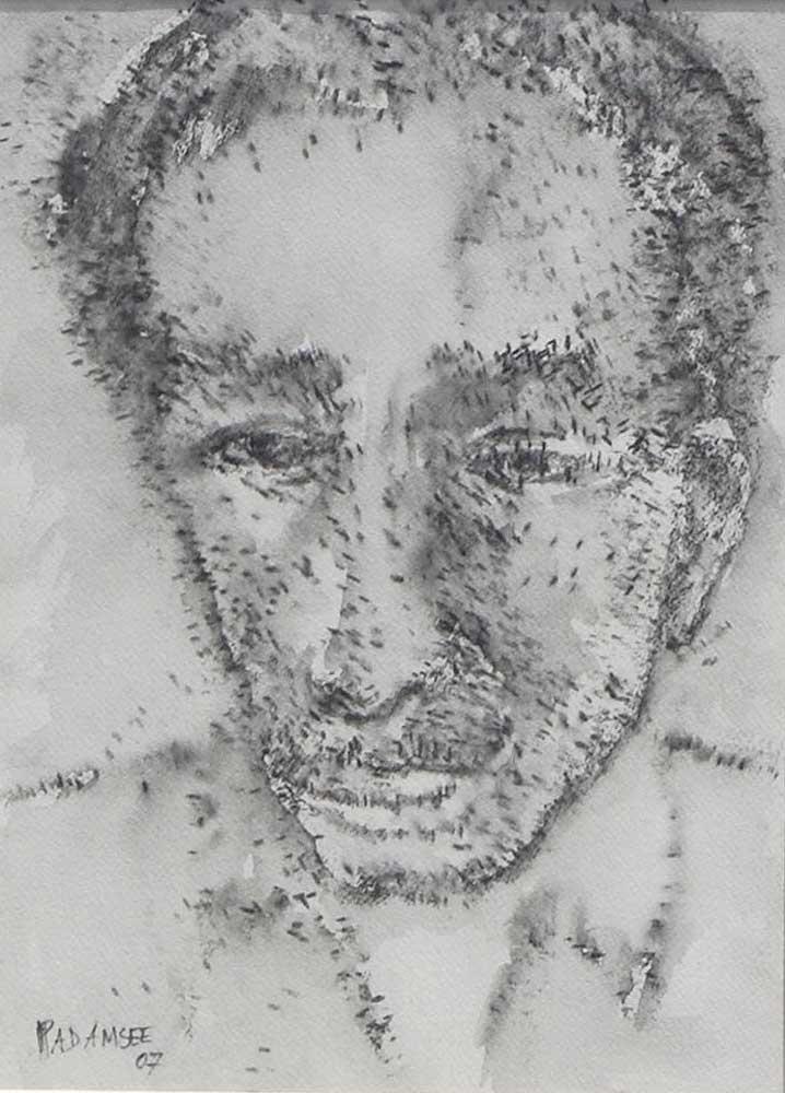 akbar-padamsee-head15-x-11-inches-ink-drawing-on-paper2007