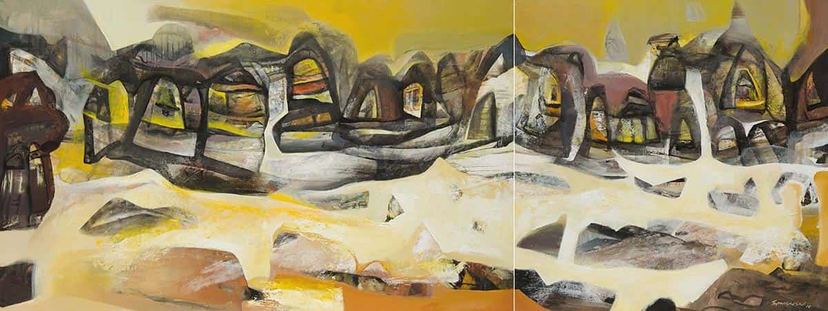 benaras-dyptych-abstract-acrylic-on-canvas-128×48-inches-2014-min