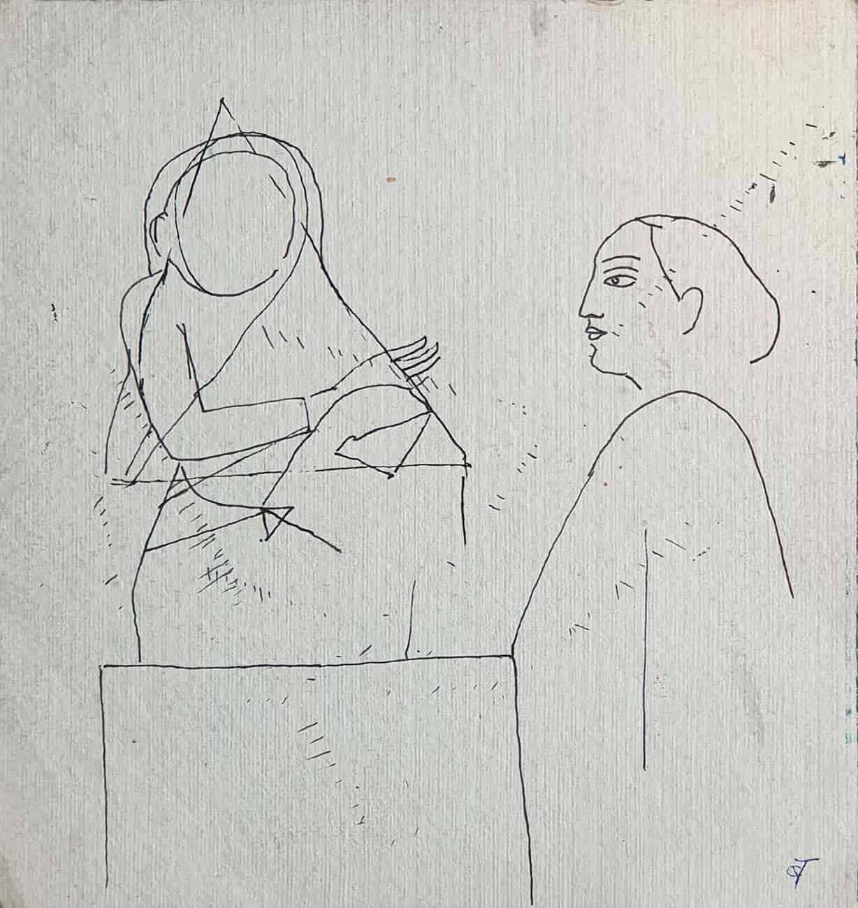 sketch-of-two-woman-drawing-on-paper-7.75×8.25-inches-min