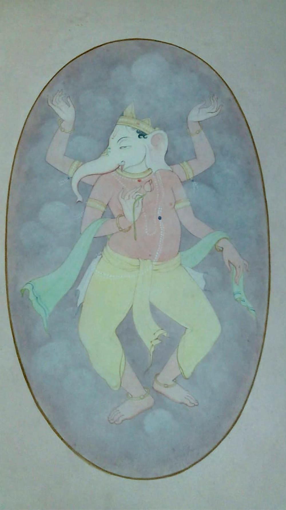 mintu-naiya-ganesha-wash-on-paper-7×11-inches