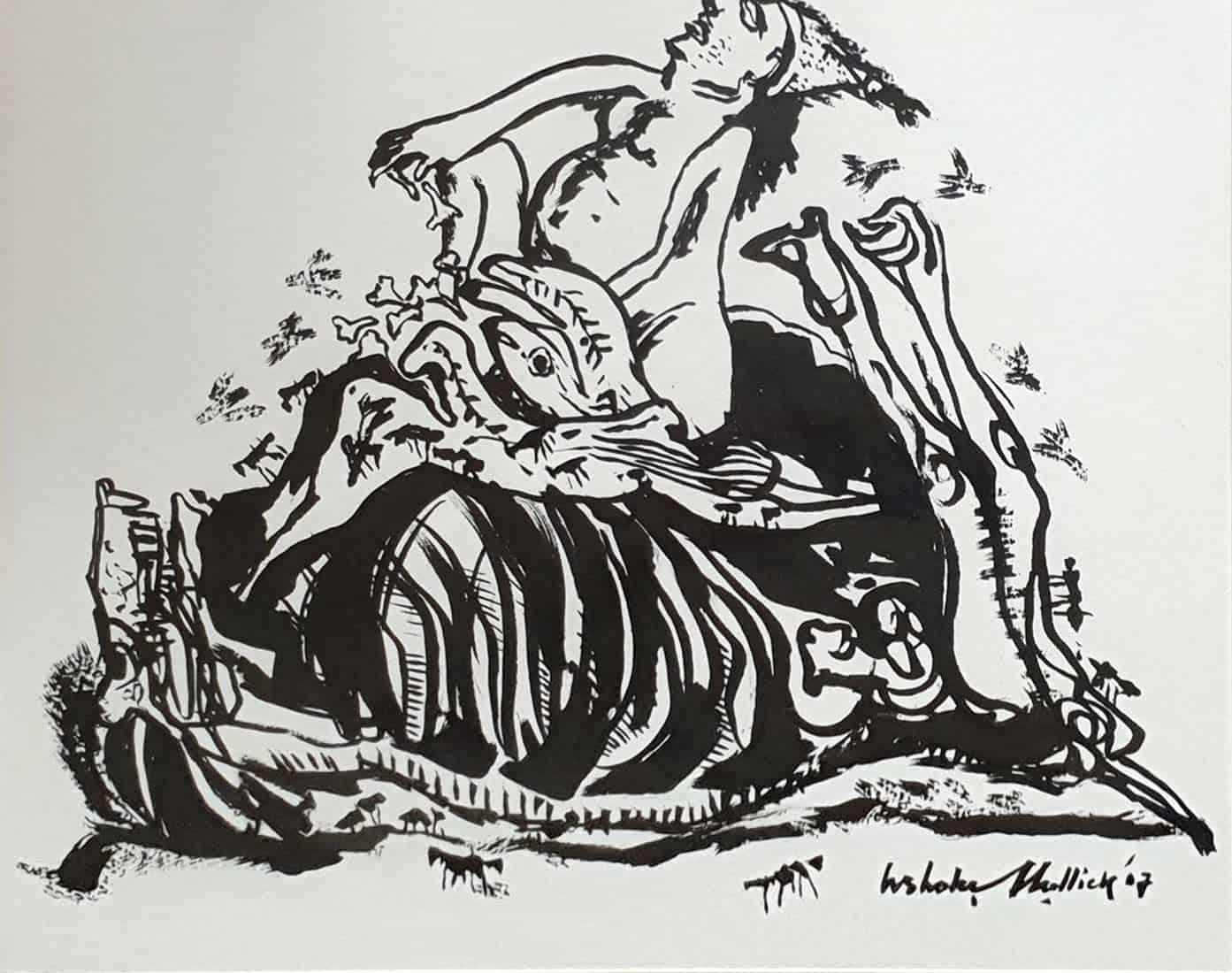 ashoke-mullick-ink-on-paper-14×12-inches-2007