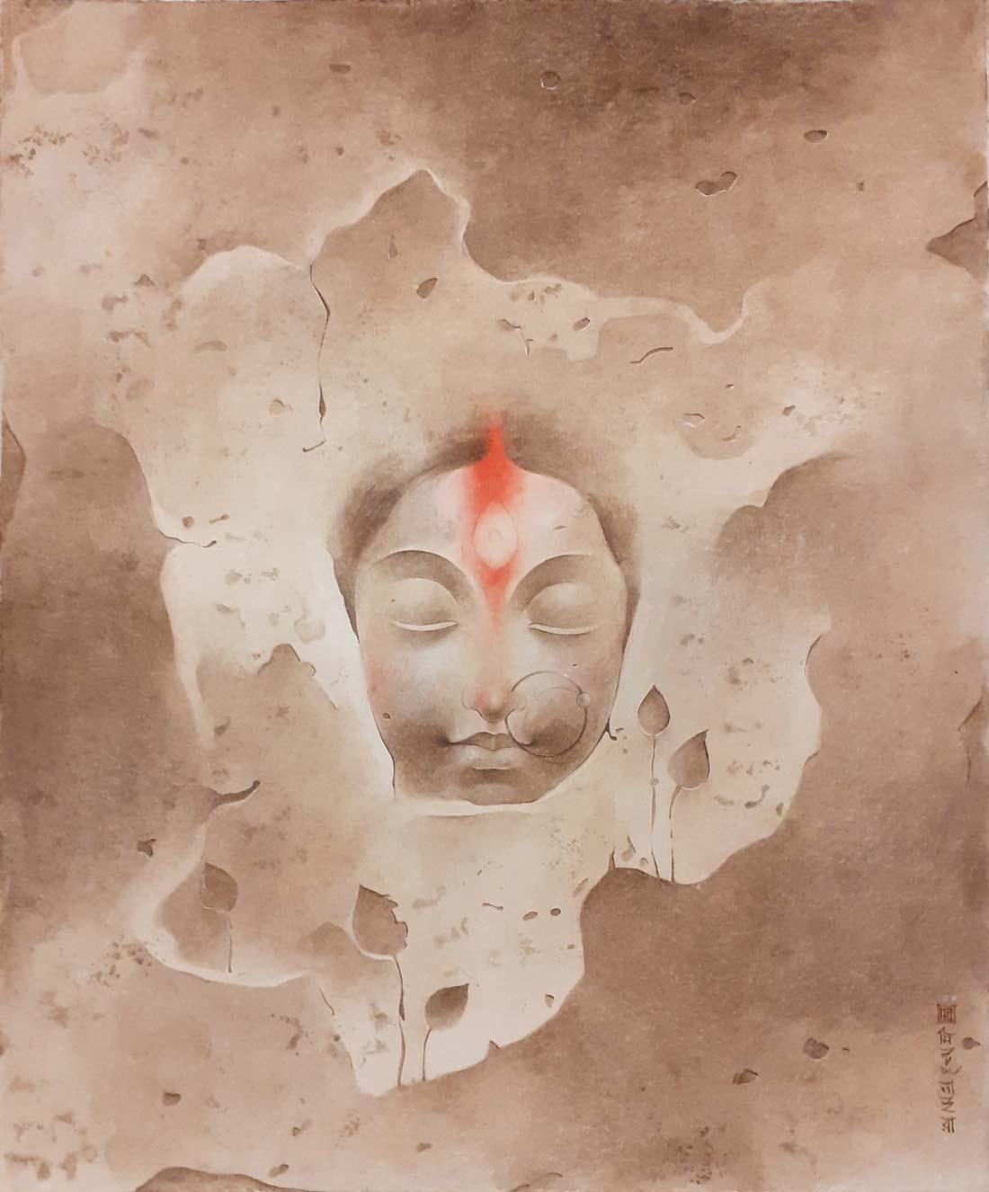 mintu-naiya-untitled-wash-on-board-11×13.25-inches-min