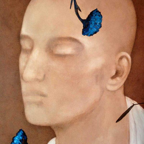 "Chandra Bhattacharya  |  Untitled  ""  Acrylic on Canvas  |  48x36 inches"