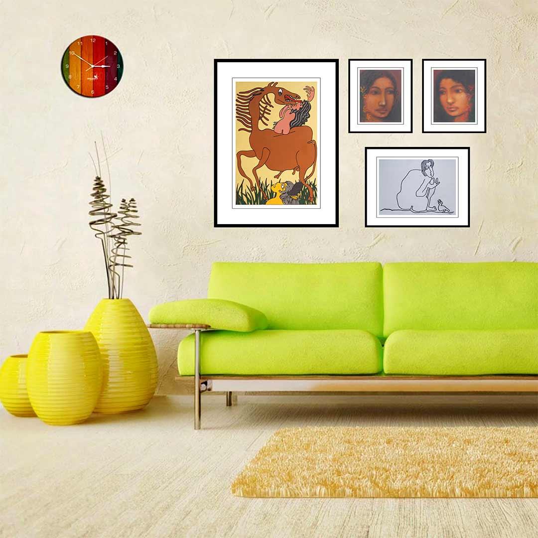 Prakash Karmakar | 30 x 20 inches| Acrylic on Canvas | Suhas Roy's Radha Pastel on Board