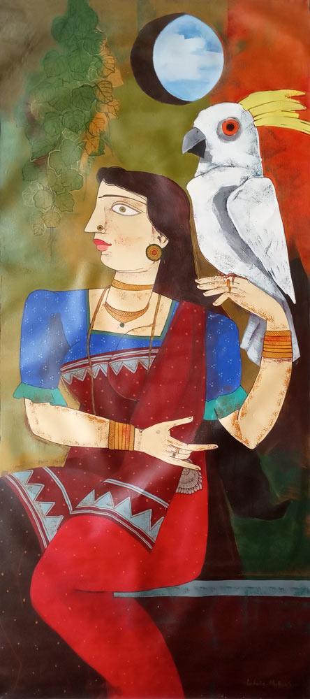 Ashoke Mullick Acrylic on Canvas 31.5×71 inches 2011