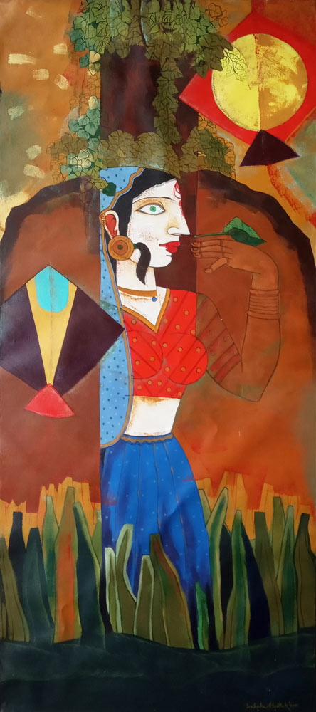 Ashoke Mullick Acrylic on Canvas 31.5×71 inches 2011