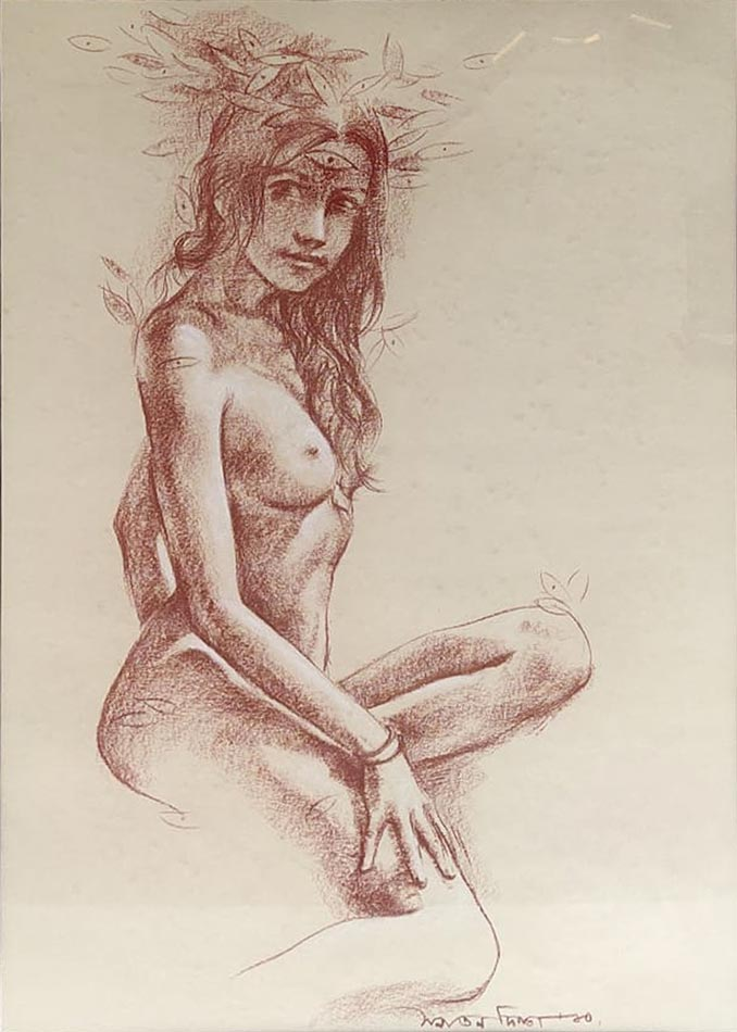 Sanatan Dinda Conte on Paper 28×20 inches 2010