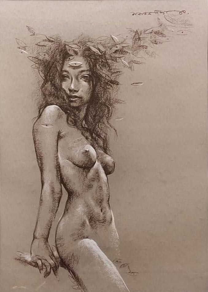 Sanatan Dinda Conte on Paper 28×20 inches 2010