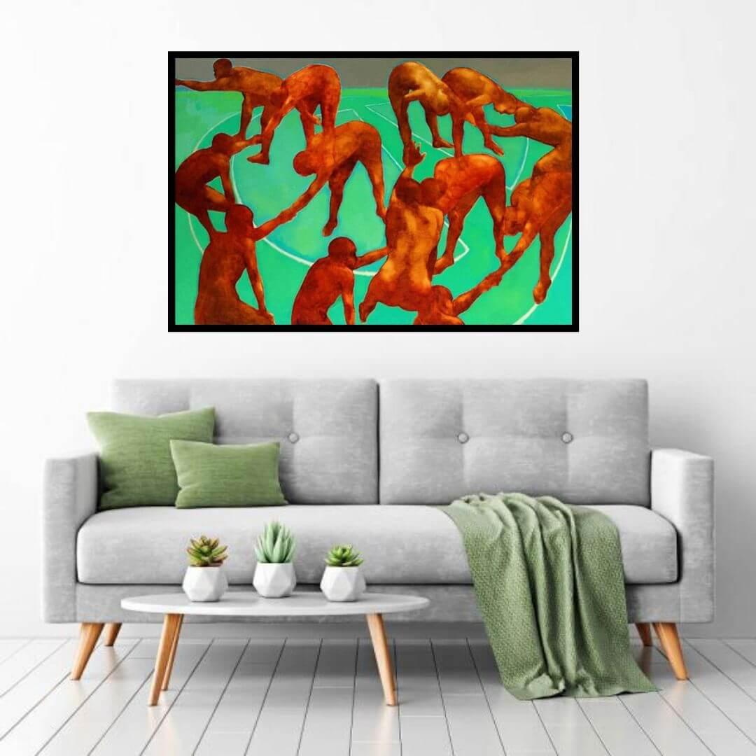 Sajal Sarkar | Power Play | 60 x 48 inches | Oil on canvas