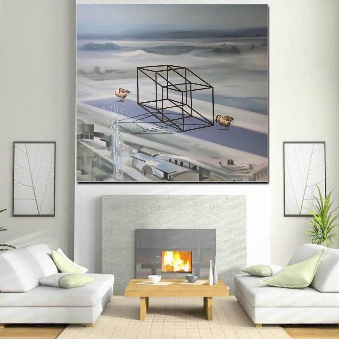 LB 003 Murli Cheeroth | 40 x 50 inches | Oil on Canvas