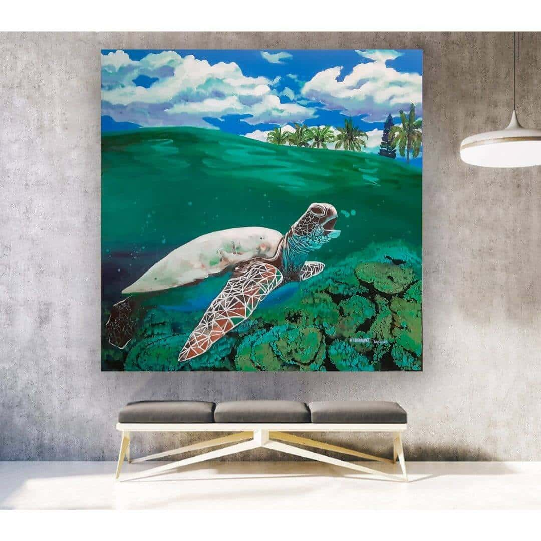 LB 004 : Debabrata Basu | Oil on Canvas | 46 x 46 inches