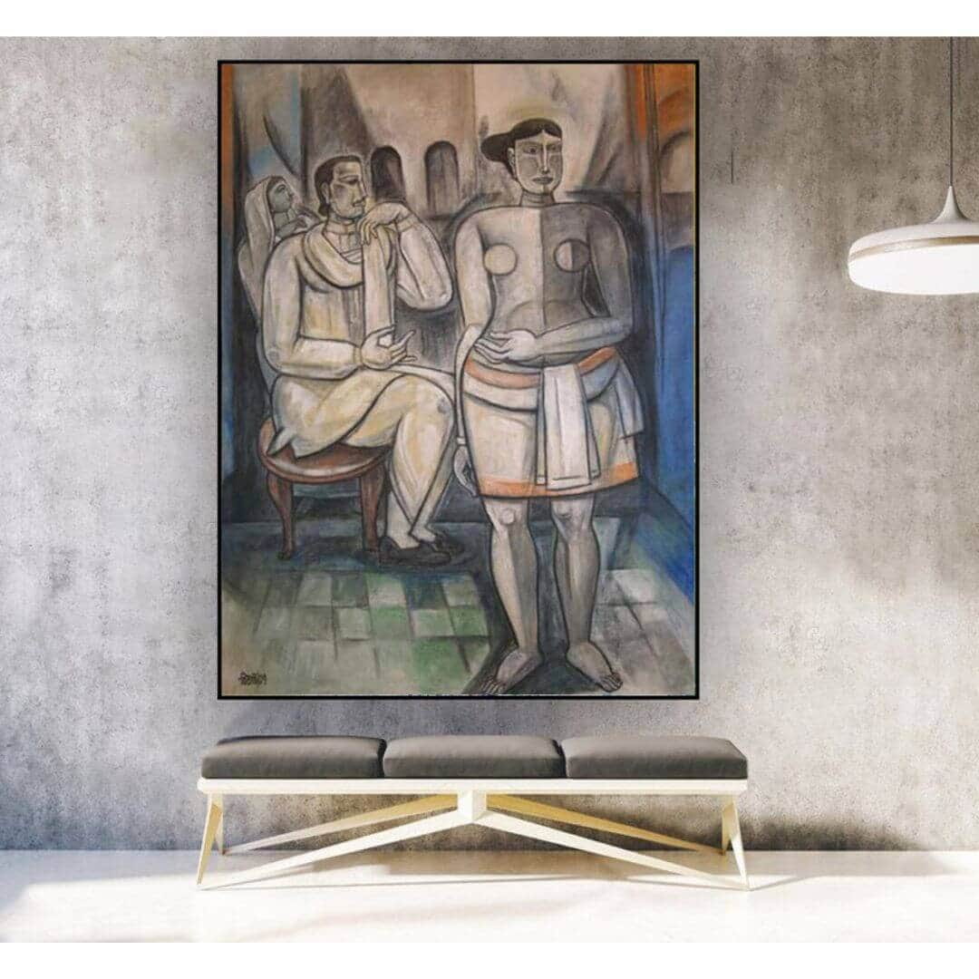 LB 001 Bijan Choudhury | 36 x 48 inches | Mixed Media on Canvas