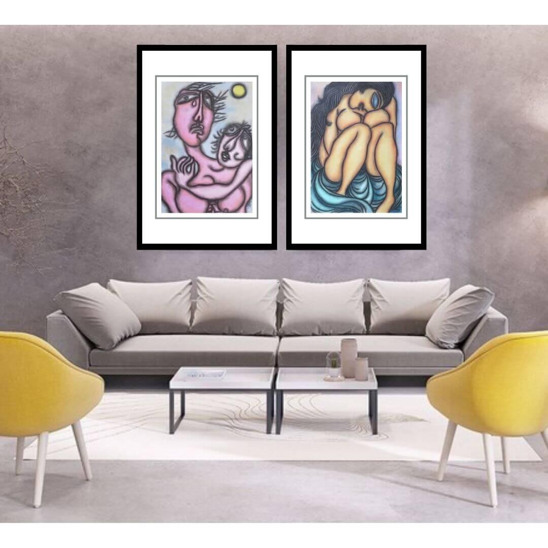 Prakash Karmakar | Pastel on Paper | 20 X 30 inches Each