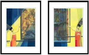 GK-156 Samir Sarkar   Untitled   Acrylic on Paper   12x16 inches (Set of Two) INR 60,000/- NOW 25000
