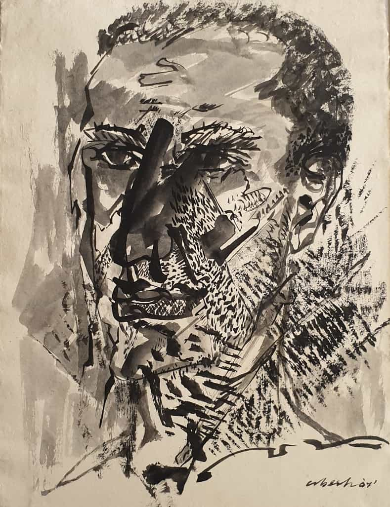 Abesh Bivore Mitra Transformed Faces Ink, Mixed Media on Thick Imported Paper 11×15 inches