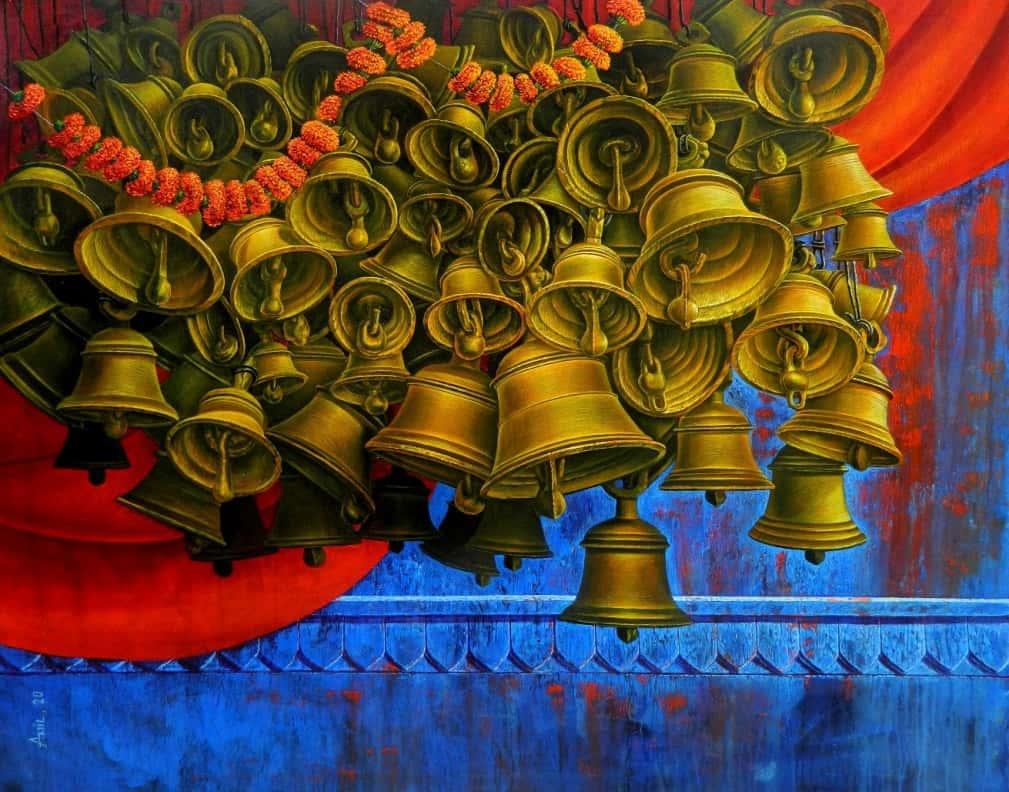 anil-kumar-yadav-aradhana-acrylic-on-canvas-60×48-inches-2020-min