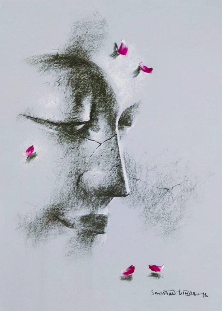 sanatan-dinda-yugpurush-conte-dry-pastel-on-paper-20×28-inches-2016-3