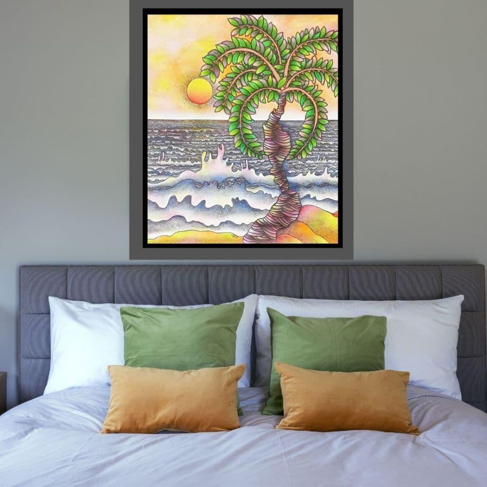 Prokash Karmakar, Landscape, Acrylic on Canvas, 36x42 inches, 2003