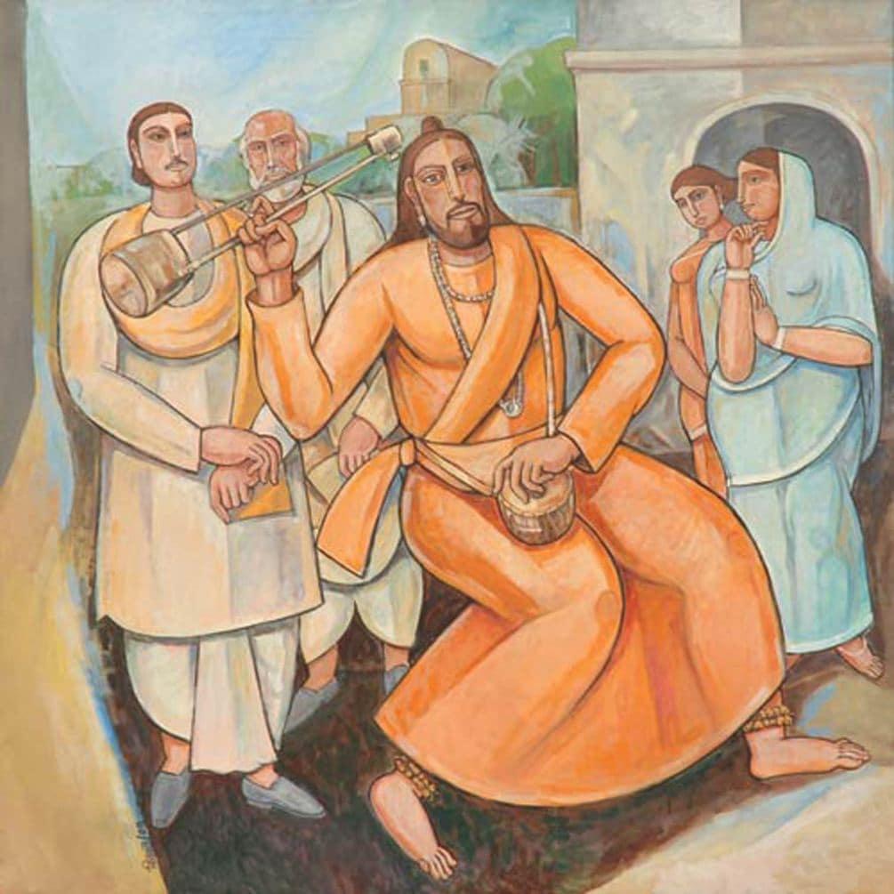 Bijan Choudhury | Raga  | Oil & Acrylic on Canvas | 48×48 inches | 2006