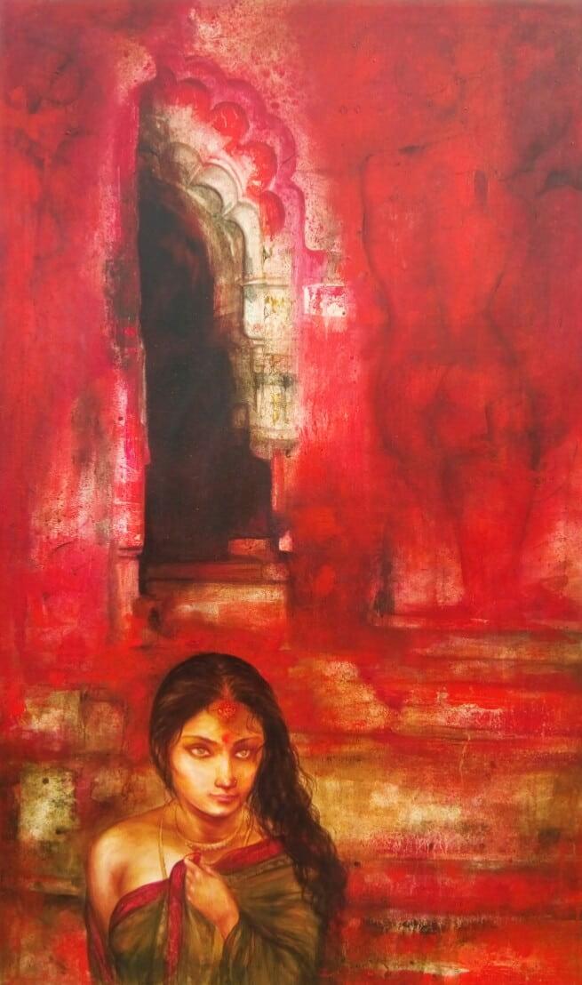 Gouranga Beshai Untitled Acrylic on canvas 60×36 inches