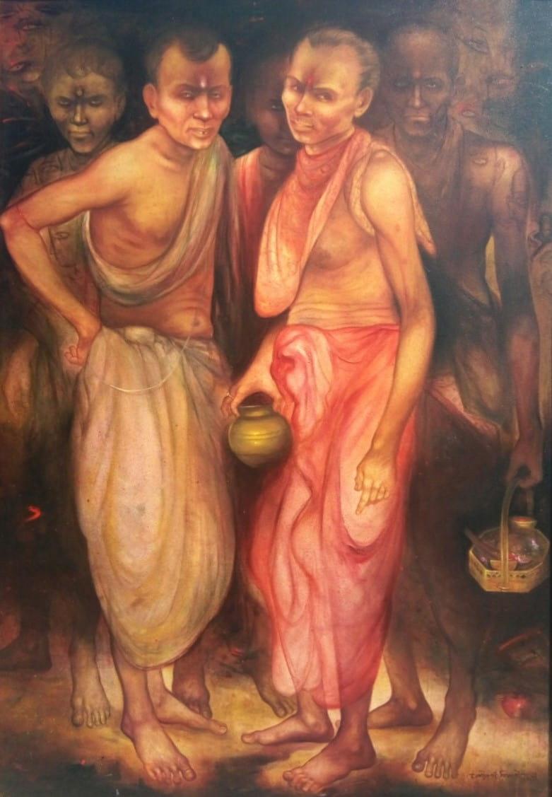 Gouranga Beshai Pujari Acrylic on Canvas 42×60 inches