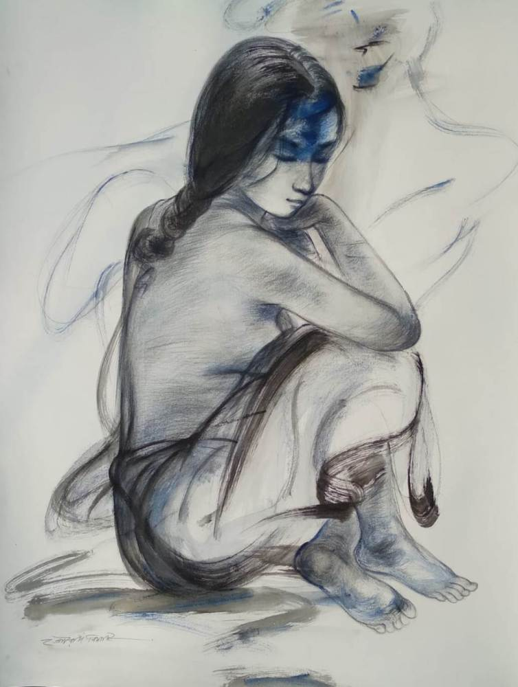 Gouranga Beshai Untitled Mixed Media on Paper 22×28 inches