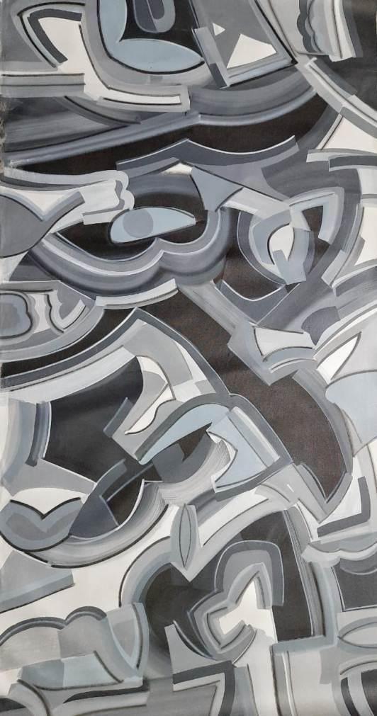Amit Kalla Arylic on Canvas 36×72 inches