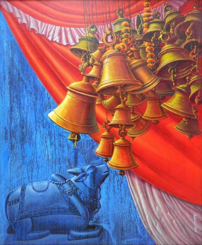 Anil Kumar Yadav Bells Acrylic on Canvas 30×36 inches