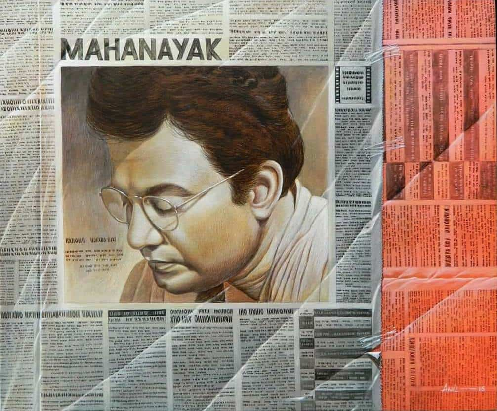 Anil Kumar Yadav Mahanayak (Uttam Kumar) Acrylic on Canvas 24×20 inches