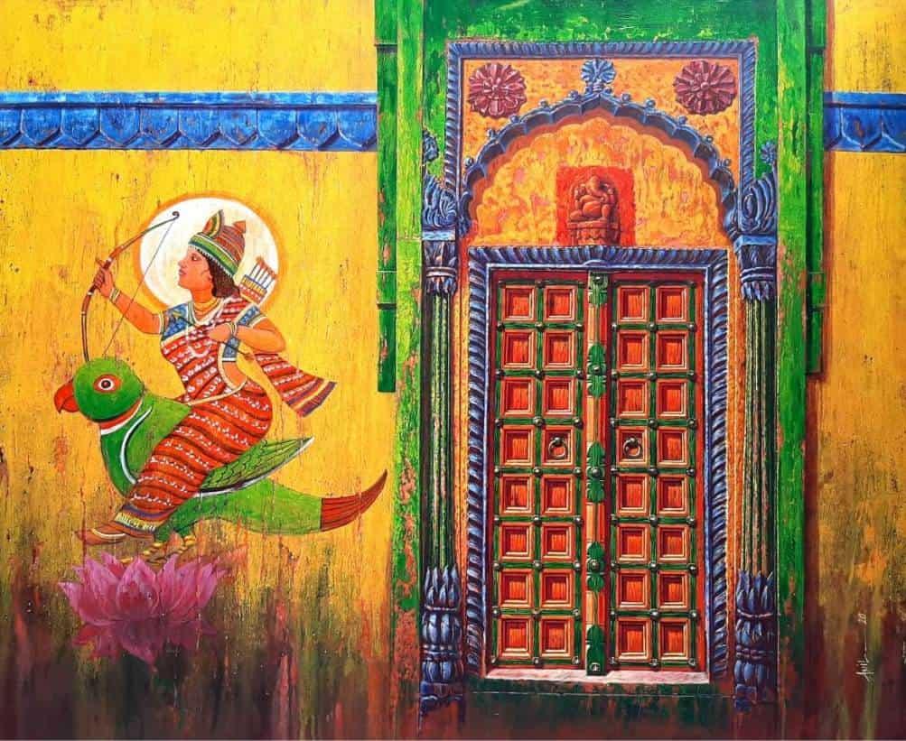 Anil Kumar Yadav Rati Acrylic on Canvas 60×48 inches
