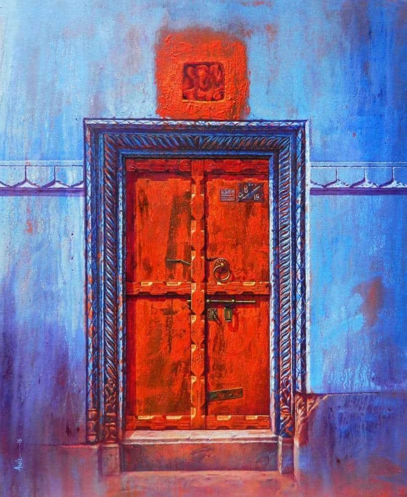 Anil Kumar Yadav Varanasi-III Acrylic on Canvas 30×36 inches