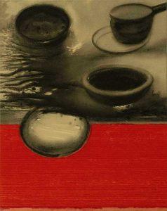Madhu Basu  |  N°210  |   Magma-210  |  Acrylic & Pigments on Canvas  |  36x28 inches