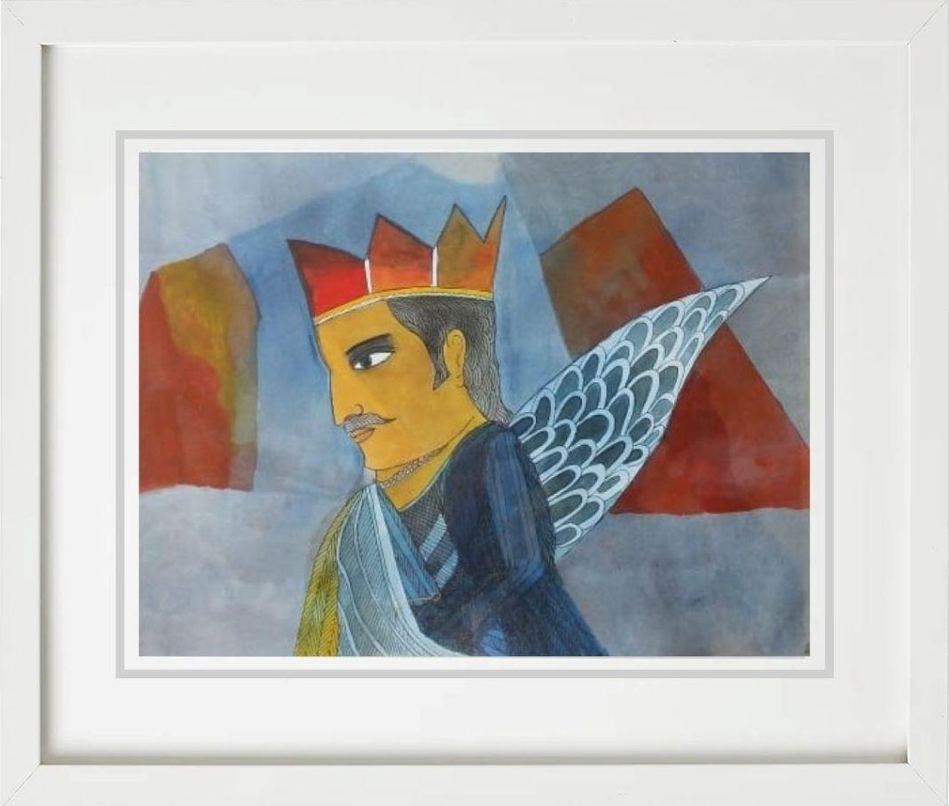 Badri Narayan   Mixed Media on Paper   15 x 11 inches