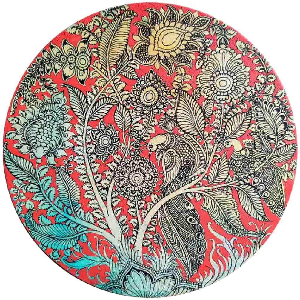 Harinath N.   003 Acrylic on Canvas   12 inches (Dia)