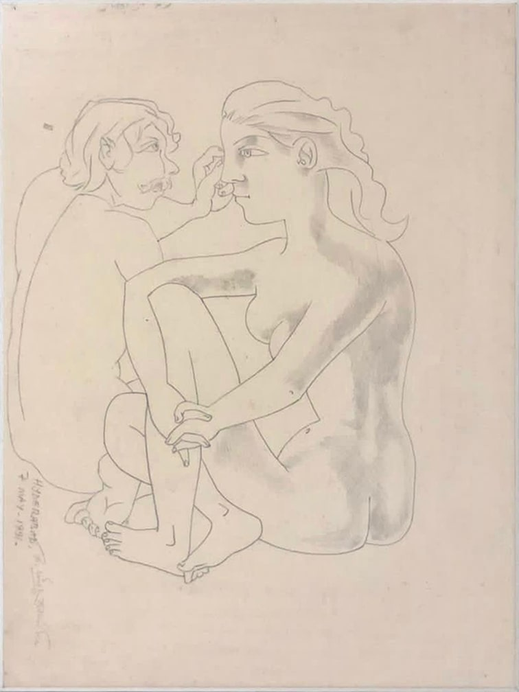 Laxma Goud Untitled Pencil Drawing on Paper 10×7.5 inches 1991