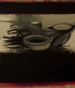 Madhu Basu N°221 Magma 221 Acrylic & Pigments on Canvas 21x18 inches