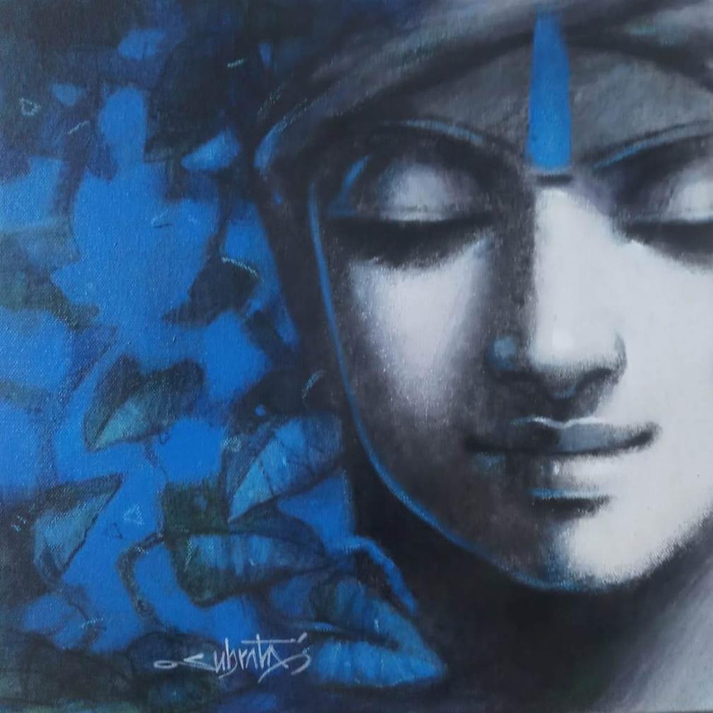 Subrata Das Untitled Acrylic on Canvas 12×12 inches 2021