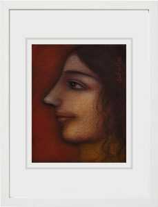 Suhas Roy | Radha | Mixed Media on Board | 6x4.8 inches 2006