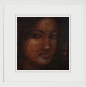 Suhas Roy | Radha | Mixed Media on Board | 5.4x5.6 inches | 2009