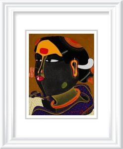 Thota Vaikuntam | Telengana Woman 001  Acrylic on canvas 8 x 10 inches | 325000