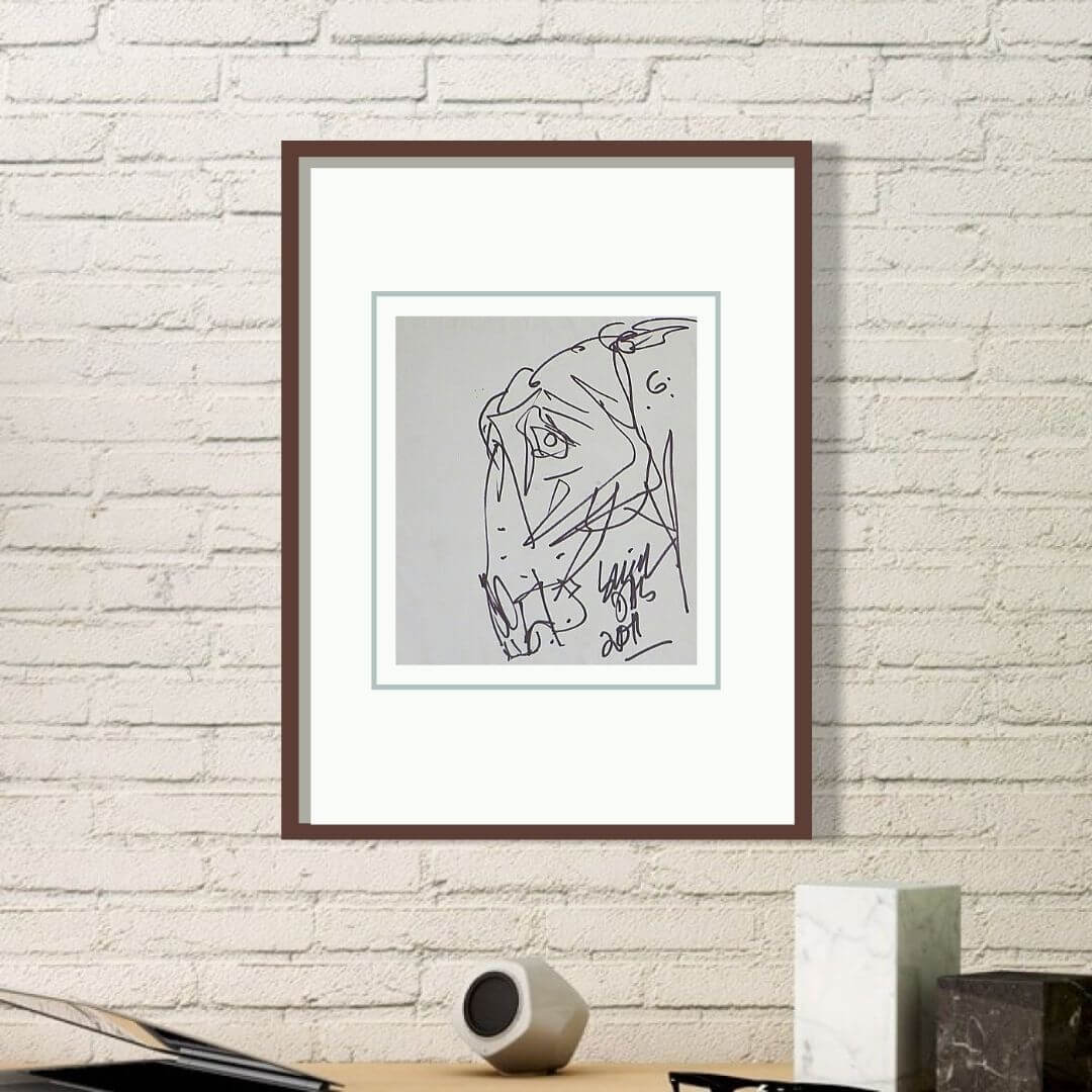 Sunil Das Horse Head | Ink on Paper | 8 x 10 inches | 45000/-