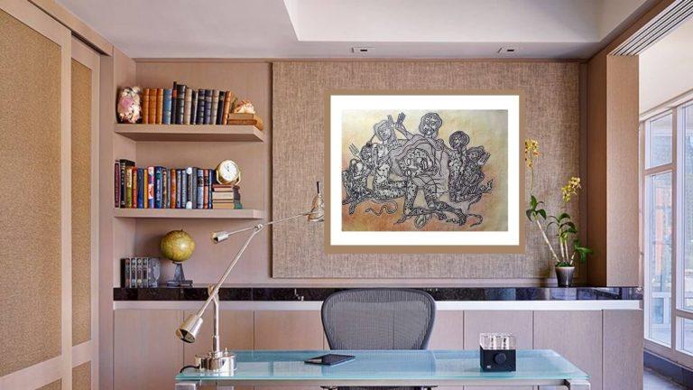 Jahar Dasgupta   Acrylic on Paper   22 x 30 inches Price 75000/- NOW 30000/-