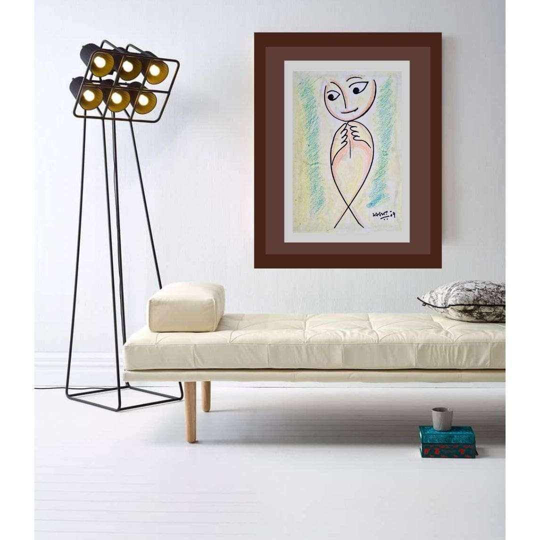 Sanat Kar | Ink & Pastel on Paper | 16 x 12 inches |  2009 | Price 60000/- Now  35000/-