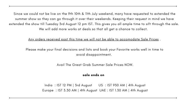 Till August 3rd IST 12 PM