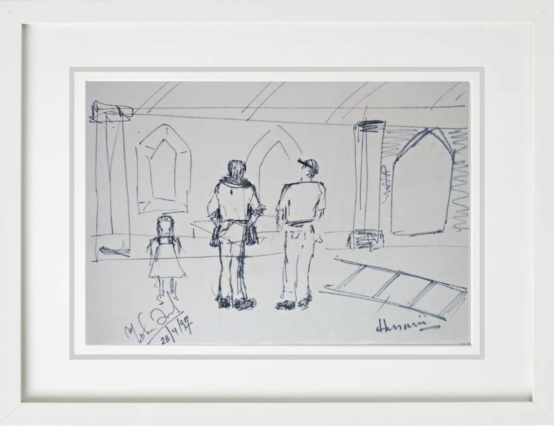 M.F. Husain Untitled Ink on Paper 14×10 inches 1997