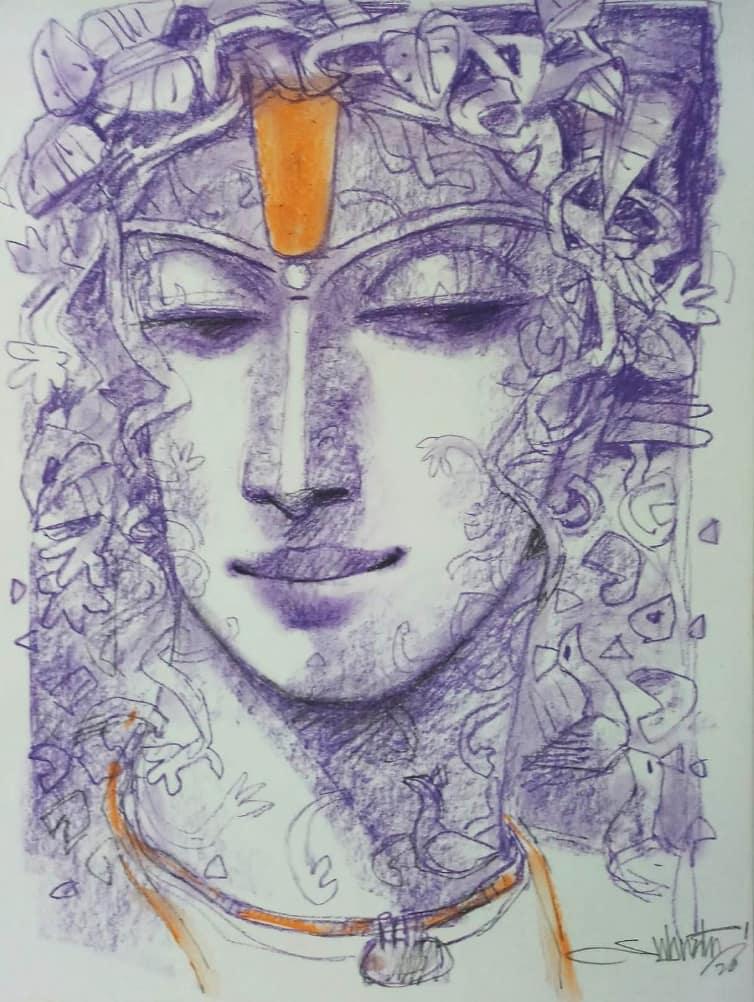 Subrata Das Nirvana Acrylic on Canvas 36×30 inches 2020